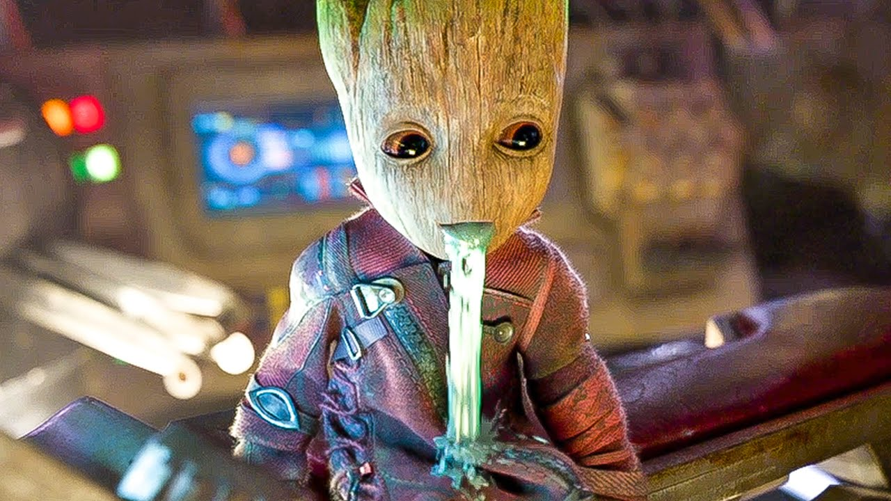 Guardians Of The Galaxy  Best Baby Groot Movie Clips