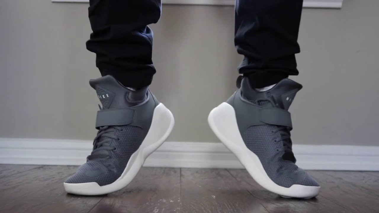 Nike Kwazi on Feet and Review  Cool White Cool Grey - YouTube ba651befbb62