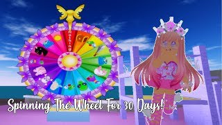 Spinning The Wheel In Royale High For 30 Days!