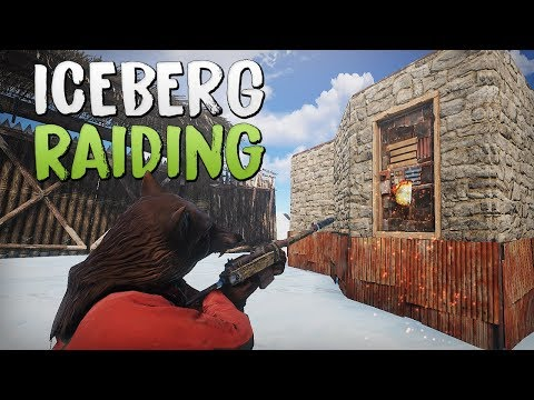 ONLINE RAIDING ICEBERG BASE! - Rust SOLO Survival