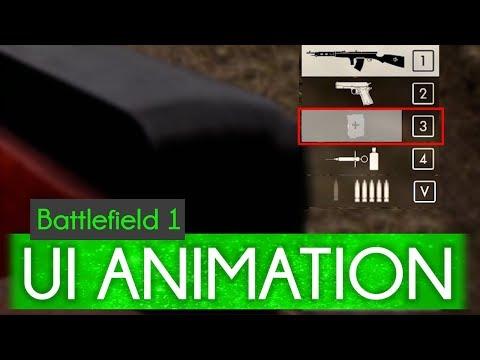 Medic/Ammo Pouch Refill Animation - Battlefield 1 UI Suggestion