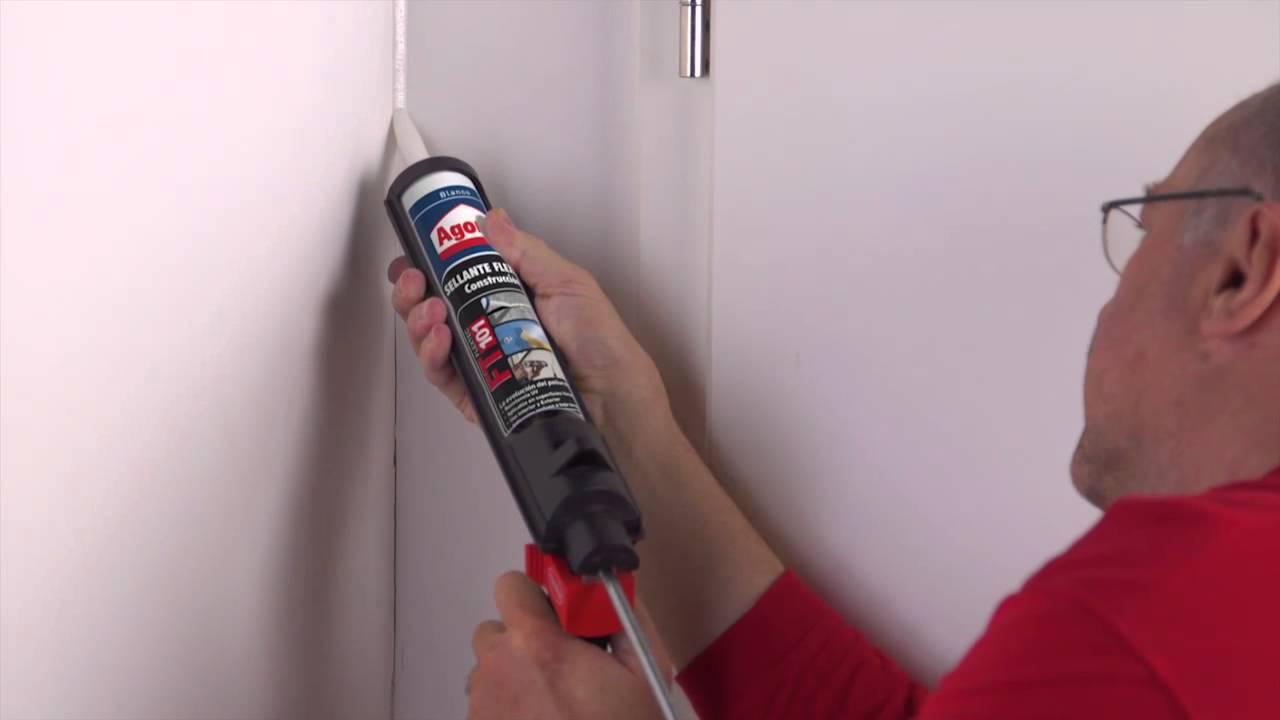 C mo rellenar una grieta en tu pared youtube - Como aislar una pared ...
