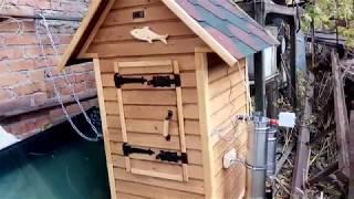 Обзор деревянной коптильни для холодного и горячего копчения..