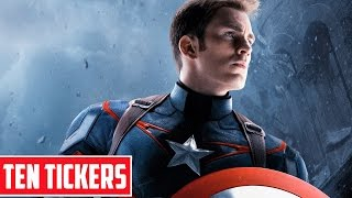 Top 10 Facts about Captain America | Ten Tickers Characters
