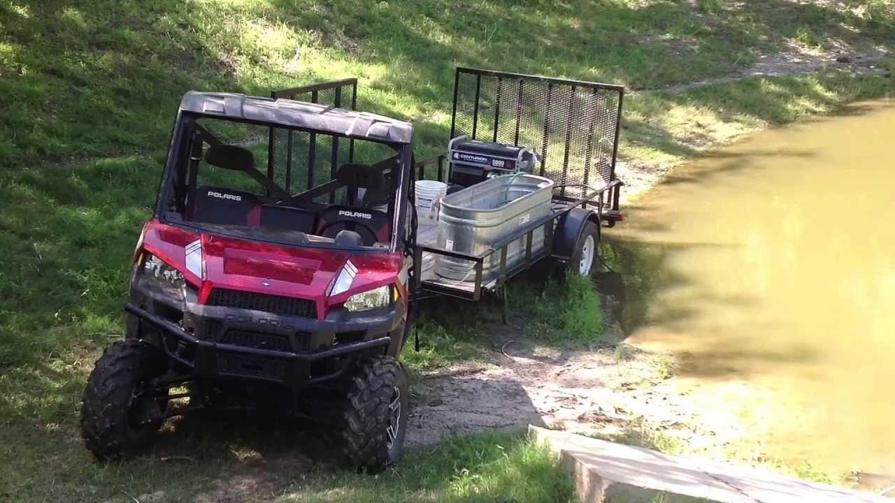 J And J Towing >> Polaris Ranger 900XP TOWING HEAVY LOAD! HILLBILLY FIRE TRUCK - YouTube