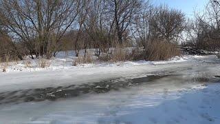 Последний Лед Таял на Глазах Зимняя Рыбалка Конец