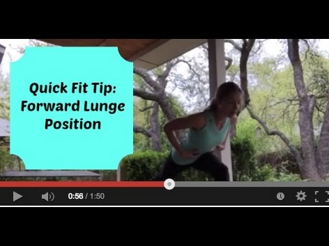 Fitness Tip: Forward Lunge Position