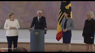 Ernennung der neuen Bundesjustizministerin Christine Lambrecht im Schloss Bellevue