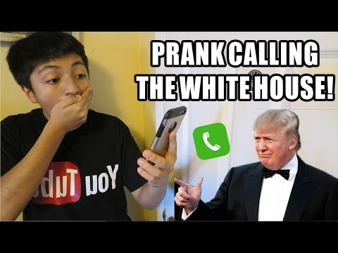 DONALD TRUMP PRANK CALL ON THE WHITE HOUSE!!