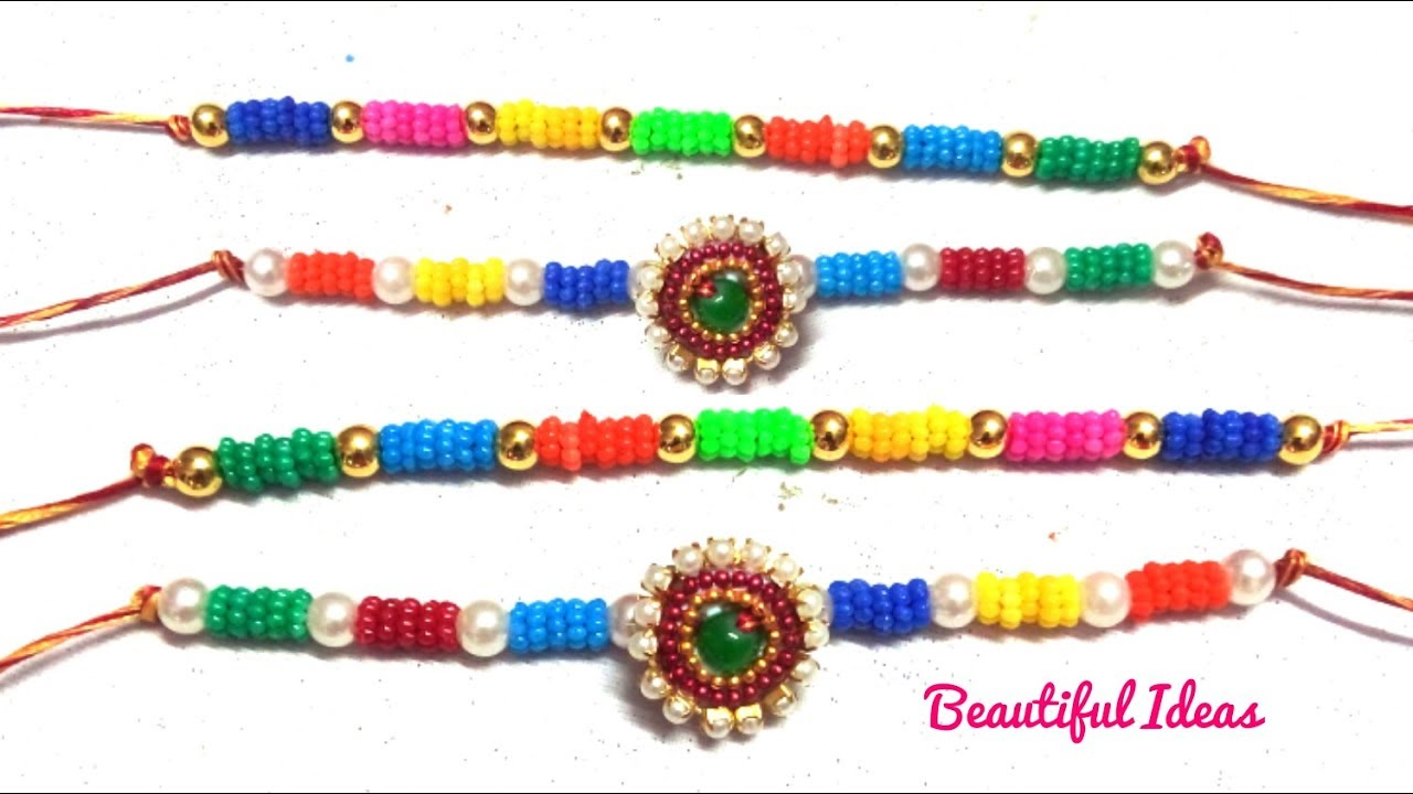 How to Make Rakhi at Home Step By Step/DIY/Latest Designer Rakhi ...