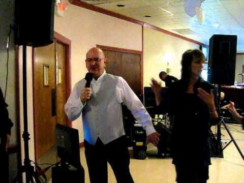 Wedding Karaoke Groom sings to Bride