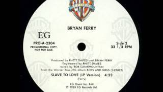 Bryan Ferry Slave To Love Special 12 Re Mix