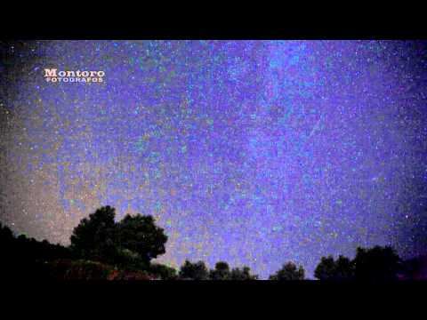 Lluvia de Estrellas (Perseidas) Timelapse HD Canon Mark II