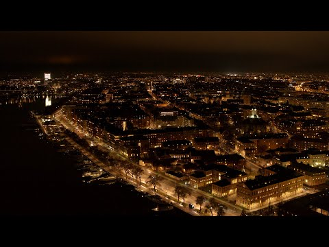 5548. Stockholm Drone Stock Footage Video