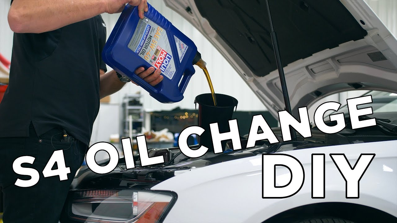 Audi S4 Oil Change Diy B8 Chassis 2010 2016 Youtube