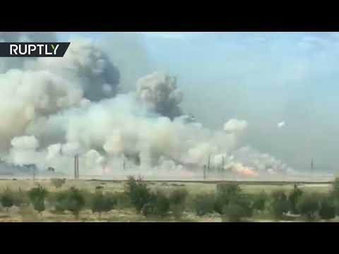 Fire causes multiple explosions at Azerbaijan ammunition depot