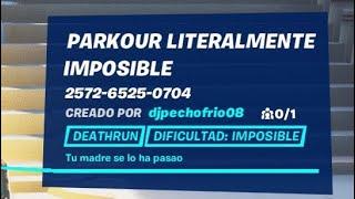 FORTNITE mi PARKOUR IMPOSIBLE (código descripción)