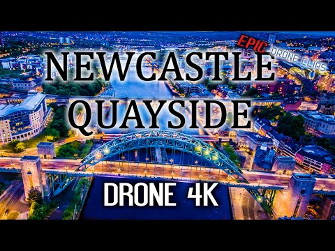 Newcastle Quayside Drone 4K Aerial footage Day & Night - #EpicDroneClips No.9