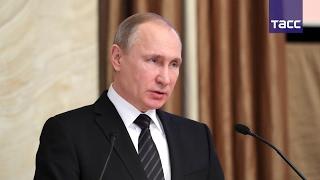 Владимир Путин выступил на заседании коллегии ФСБ