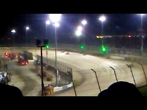 USAC midgets Eldora speedway 4 crown series heat laps