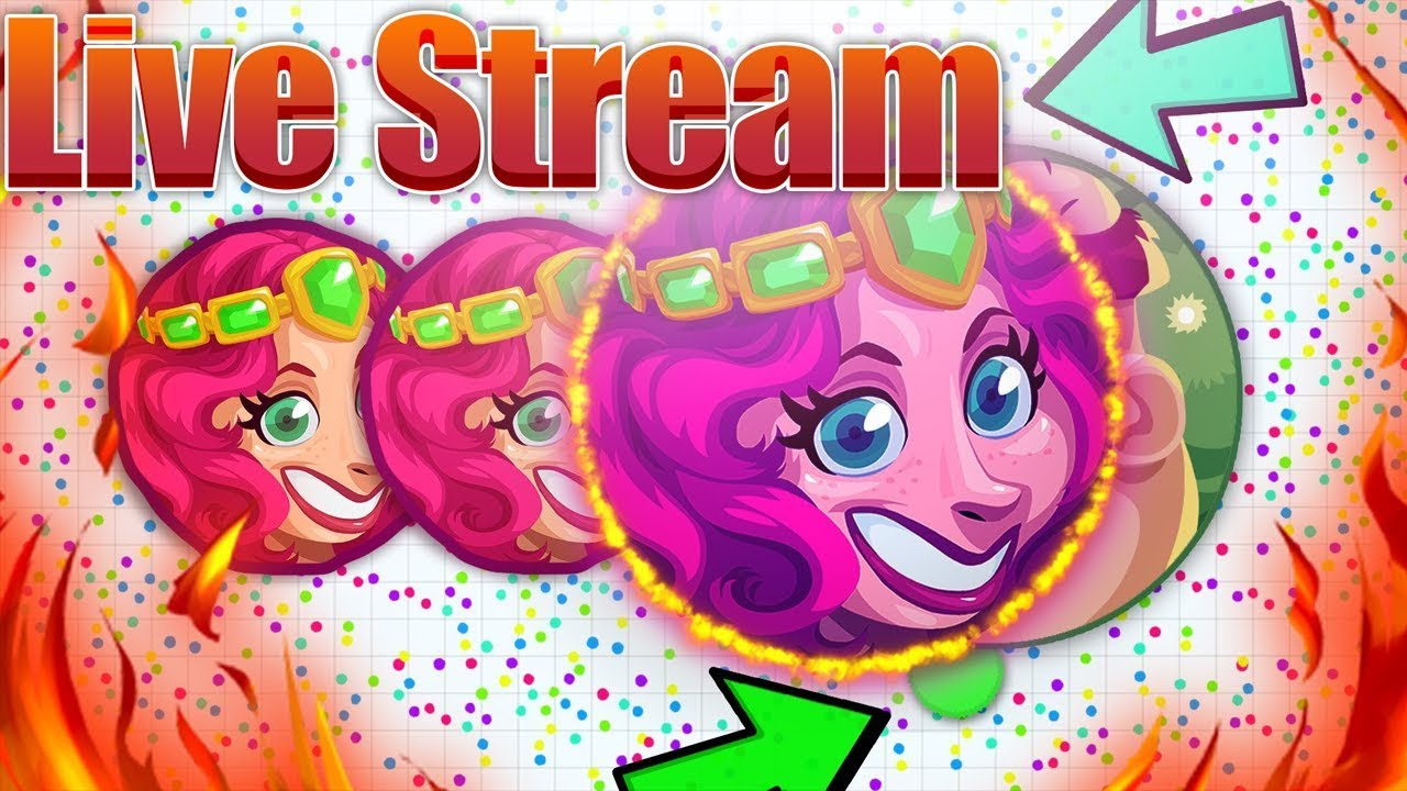 Agar io - Playing Agario Live WITH 300 BOTS 🔴 PRO PLAYER! Livestream