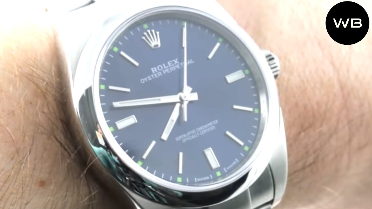 Rolex Oyster Perpetual 39 BLUE/GREEN (114300) Luxury Watch Review