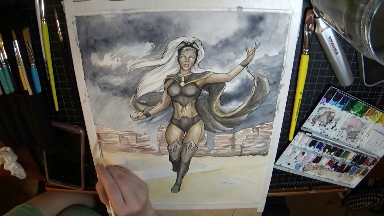 Painting Storm from X-Men - Time-Lapse