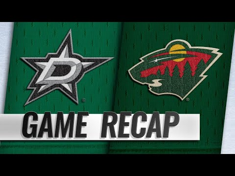 Dowling's late goal sends Stars past Wild, 3-1