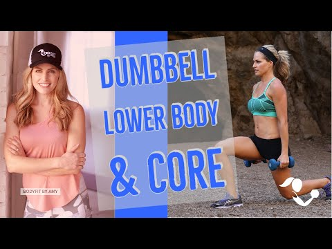35 Minute Dumbbell Lower Body & Core Workout: Home Weights Workout for legs, glutes, hips and core