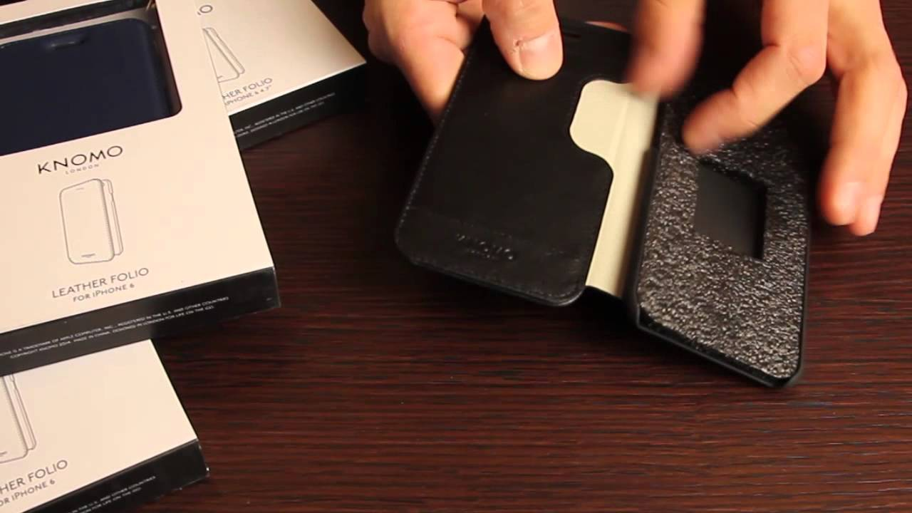 size 40 638a1 bba26 Knomo Leather Folio iPhone 6 - UNBOXING