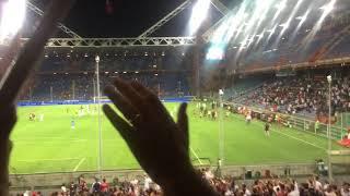 Coro Genoa Lecce coppa Italia fine partita