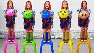 Five little monkeys 🙈 nursery rhymes and children's songs