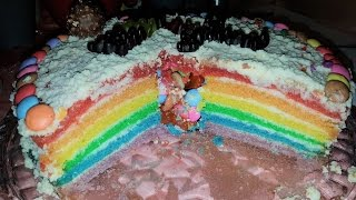Торт   радуга   !!!