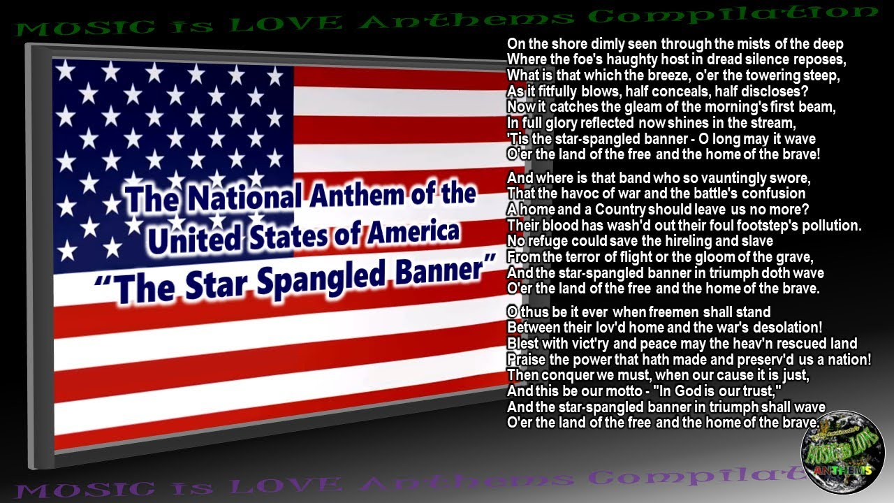 Star Spangled Banner - National Anthem of United States