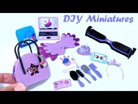 DIY My Little Pony Miniatures - Zippered Purse, Beauty Products, Easy Hoverboard, & More