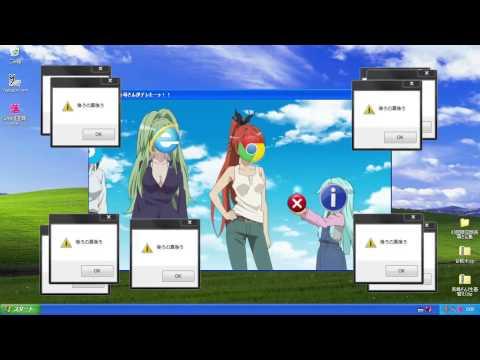 Haiyore! Nyaruko-san OP in windows error rythm