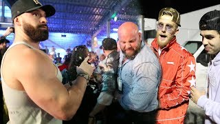 FIGHT BREAKS OUT AT THE JAKE PAUL FIGHT