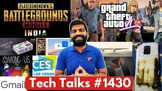 Tech Talk # 1430 - PUBG Mobile India Launch, Realme Watch 2, GTA 6 Launch, Redmi Note 10S, CES 2022