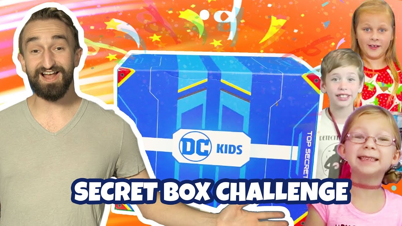 DC KIDS SECRET BOX CHALLENGE! | Creating a Trailer for the Aquaman Movie! | DC Kids