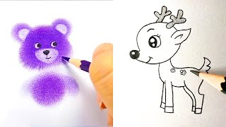 EASY AND COOL DRAẄING TRICKS. SIMPLE DRAWING TUTORIALS AND TIPS