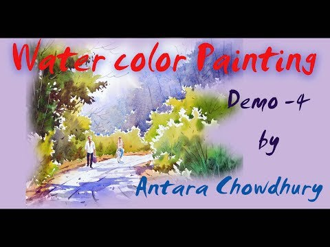 WaterColor Painting Demonstration by Indian artist  Antara Chowdhury.