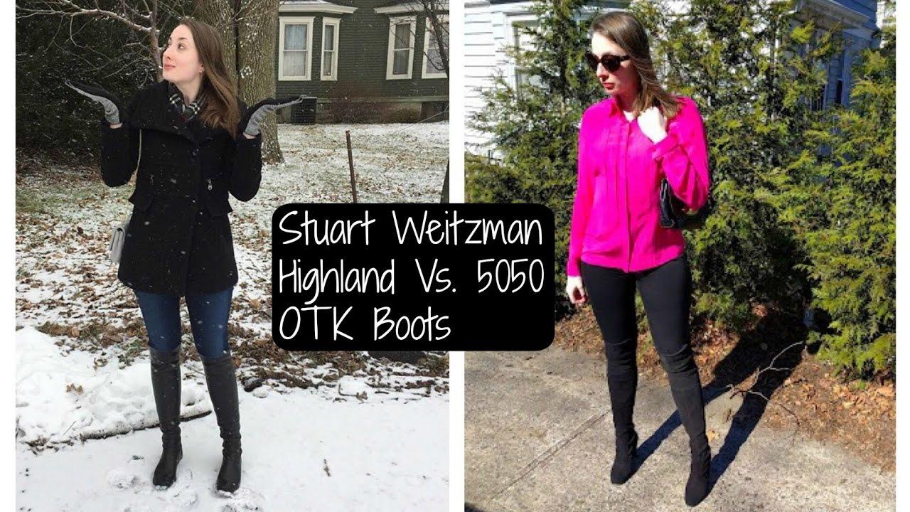 42dc9938986 Stuart Weitzman 5050 vs. Highland otk boots