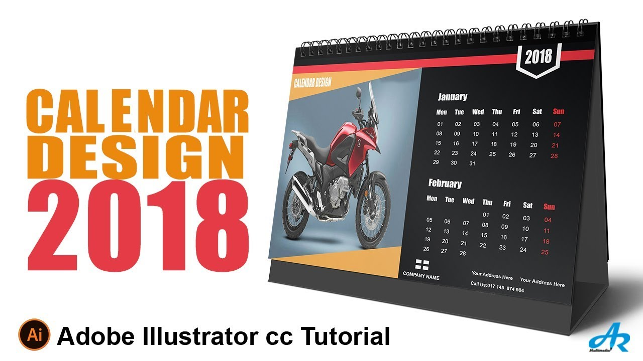 how to create a calendar in illustrator cc 2018desk calendar design illustrator cc 2018 tutorial