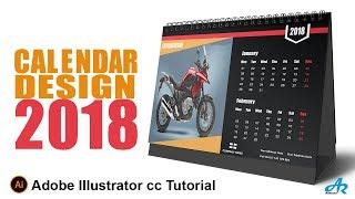 Comment Créer un Calendrier dans Illustrator cc 2018|Calendrier de Bureau Design Illustrator cc 2018 Tutoriel