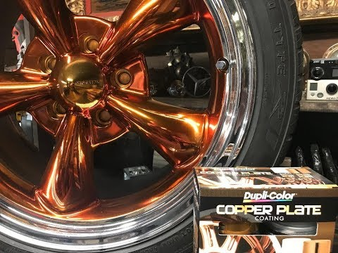 Using copper plate spray paint on rims