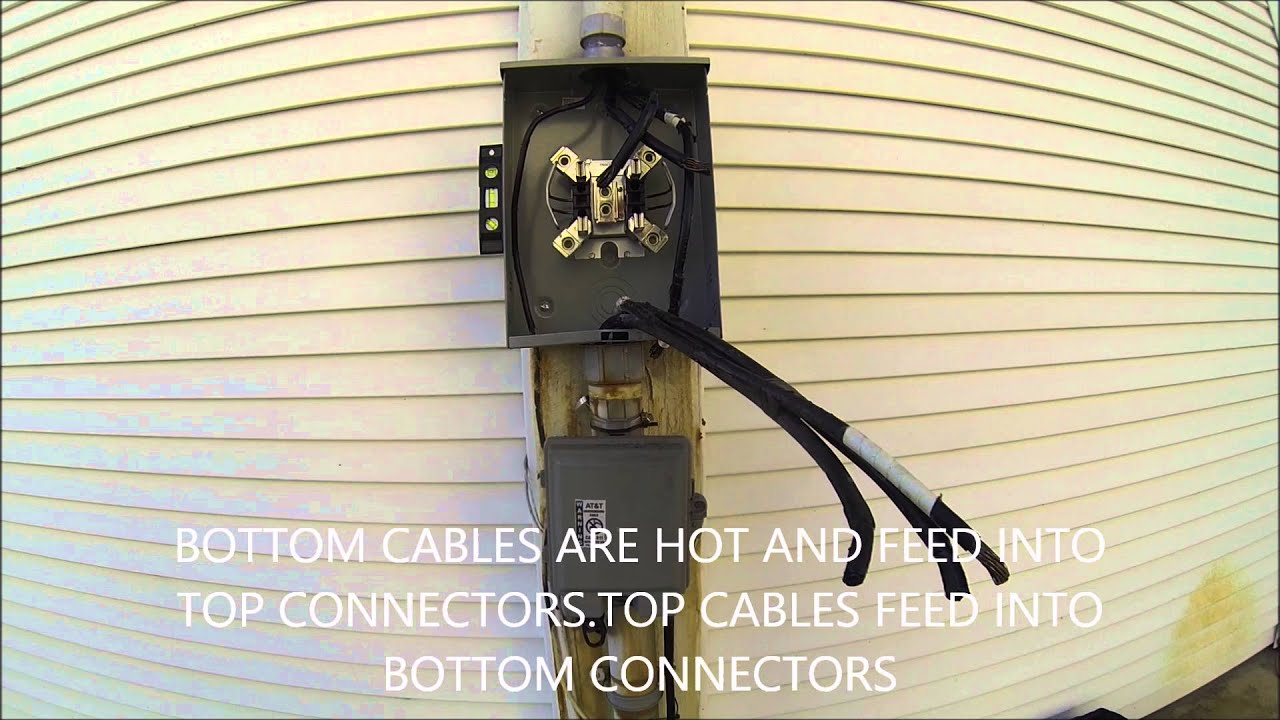 electric meter box wiring diagram yamaha pacifica how to change a socket - youtube
