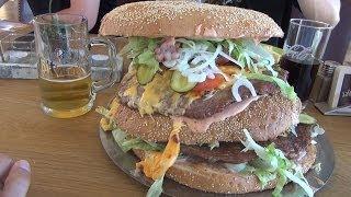 Mega Burger XXXL i Giant Burger XXXXL - Redo XXL Berlin VLOG 2017 Video