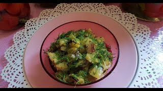 Cамый быстрый и самый вкусный баклажаный салат