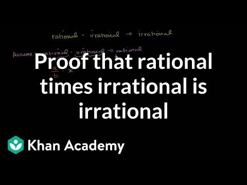 Proof that rational times irrational is irrational | Algebra I | Khan Academy