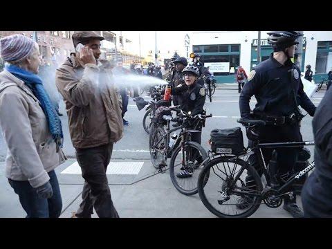 Seattle cop pepper-sprays school teacher, city sued for for $500k
